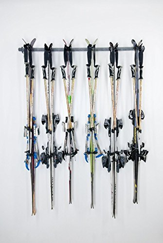 Generic YanHong-US3-151027-151 8yh2516yh er Space Save Hanger Hook 120lb 6Pair Sport Ski Storage Sport Ski Steel 120lb 6Pair der Hange Rack Holder orage Rac Organizer Space Save by Generic