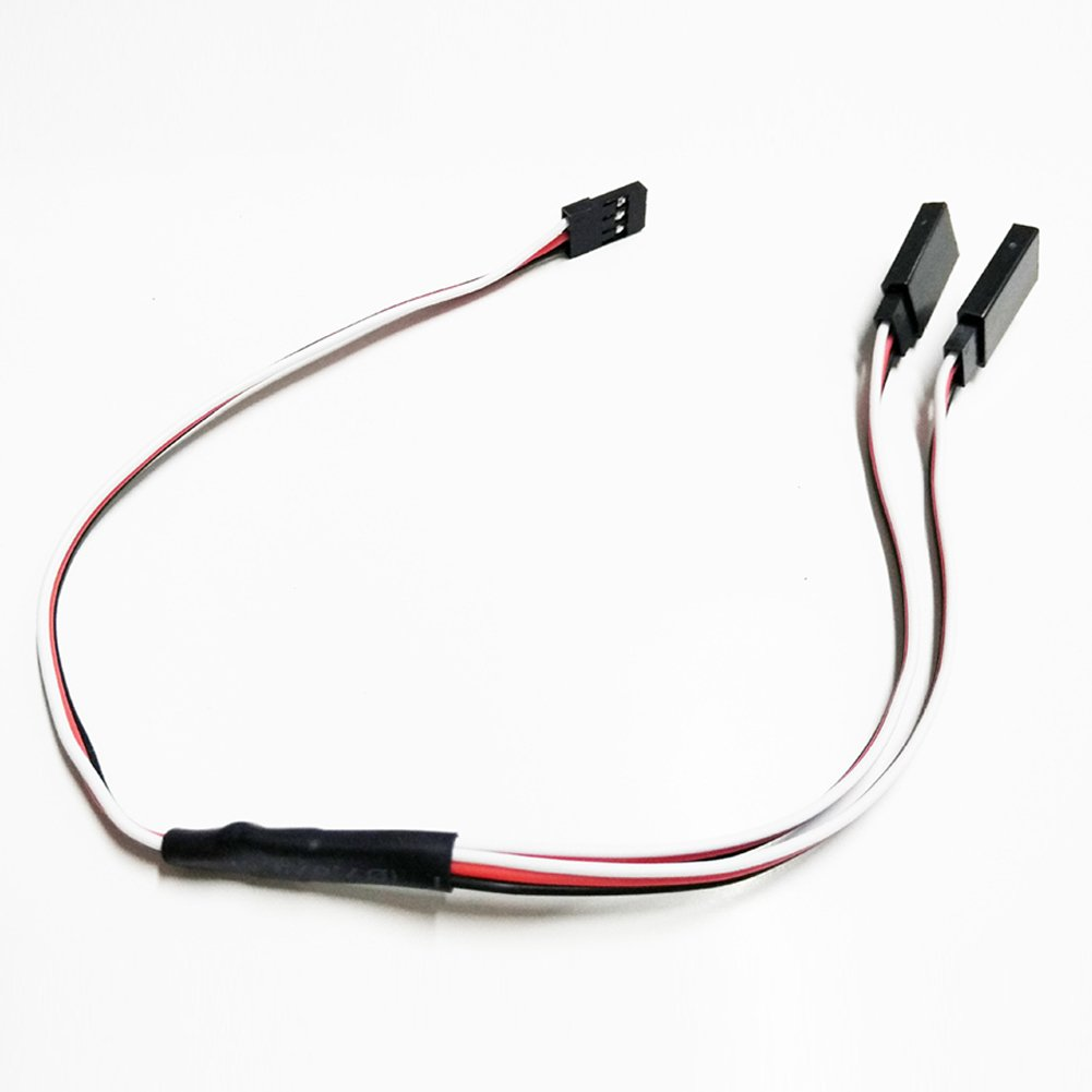 Qiyun Servo Y Extension Wire Cable 30cm Remote Control Y Servo Extension Cord Cable Wire Connectors for RC Airplane