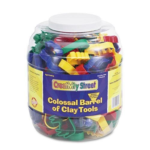 Chenille Kraft 5604 Colossal Barrel of Clay Tools, 144 Cutters in 24 Designs, Five Tools in Each