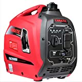 YAMATIC Portable Inverter Generator - 2000 Watt - Gas Powered Super...