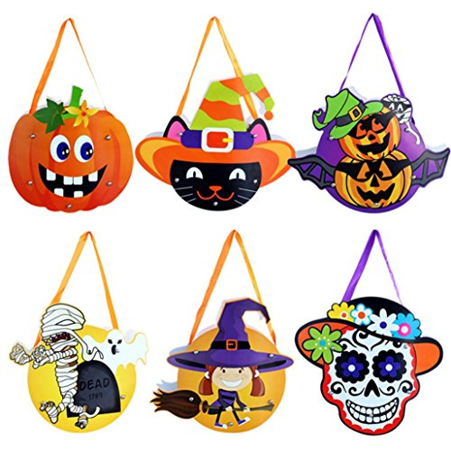 Doll Costume Paper Diy (Shybuy Halloween Candy Paper Bag for kids, Halloween DIY Paper Candy Bag Children Party Storage Bag of)