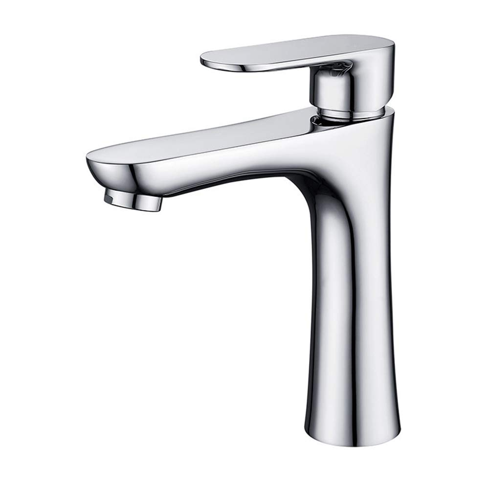 Basin Tap with Smooth Tap Body, Universal Pressure (Suits High Or Low Pressure Inssizetions)