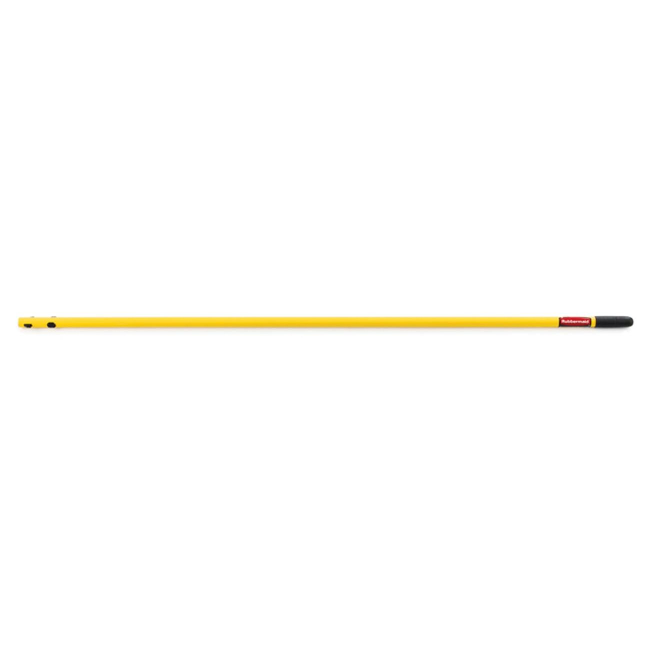 Rubbermaid Commercial 52 Inch Economy Quick-Connect Steel Handle, Yellow (FGQ74900YL00) (6-Pack) by Rubbermaid Commercial Products