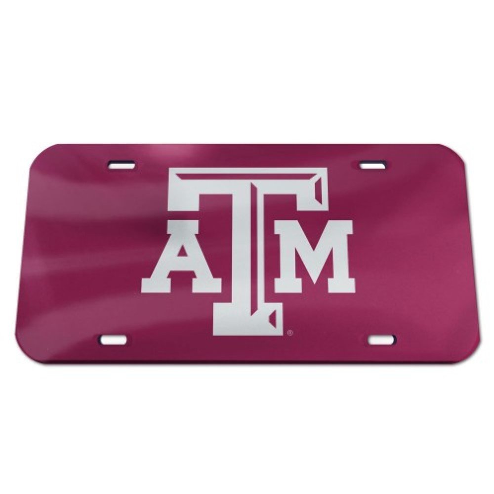 Texas A/&M Aggies Logo Crystal Mirror License Plate Wincraft Auto