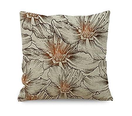 yinggouen polo flores decorar para un sofá funda de almohada cojín ...