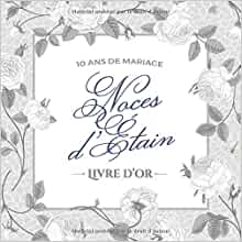 10 Ans De Mariage Noces Détain Livre Dor Décoration