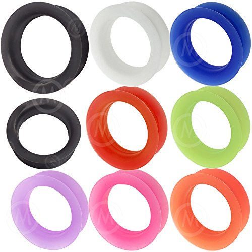 0 00 1 1/4 gauges Ear Plugs Tunnels Tunnel Silicone Stone Double Flare Single Flared Dangle 1 1/4 32mm