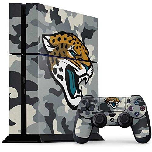 Skinit NFL Jacksonville Jaguars PS4 Console and Controller Bundle Skin - Jacksonville Jaguars Camo Design - Ultra Thin, Lightweight Vinyl Decal Protection