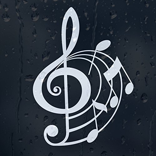 Treble Clef Music Notes Vinyl Decal for $<!--$4.99-->