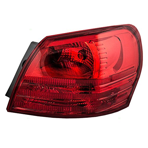 Passengers Taillight Quarter Panel Mounted Tail Lamp Replacement for Nissan SUV 26550JM00A
