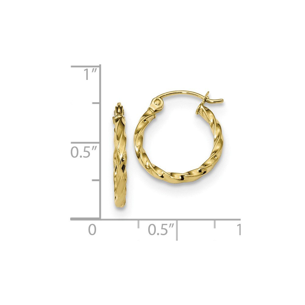 Mia Diamonds 10k Yellow Gold Twist Polished Hoop Earring