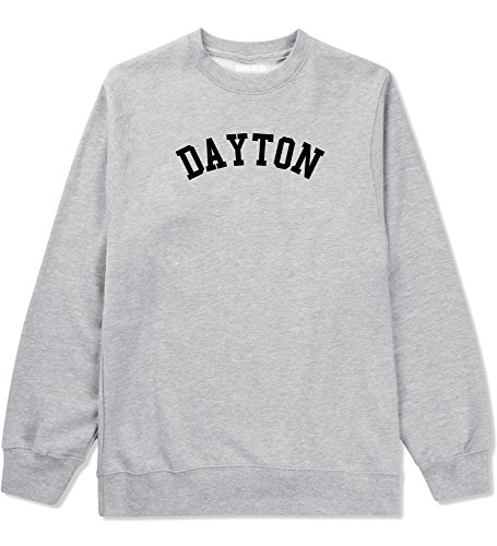 Dayton Ohio Crewneck Sweatshirt Large Grey