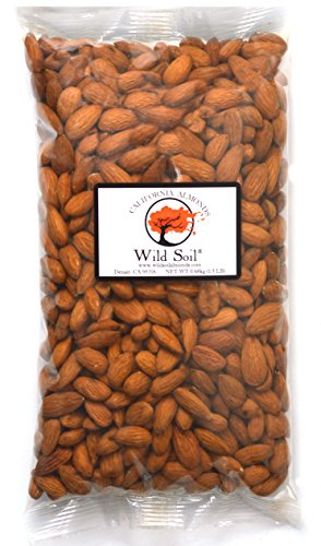 Raw Organic Almond (Wild Soil Almonds - Distinct and Superior to Organic, Steam Pasteurized, Probiotic, Raw 1.5LB Bag)