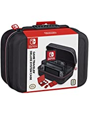 RDS Industries Nintendo Switch System Carrying Case – Protective Deluxe Travel System Case – Black Ballistic Nylon Exterior – Official Nintendo Licensed Product