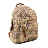 Copi Women's Map Print Pattern Collection Fashion Backpack