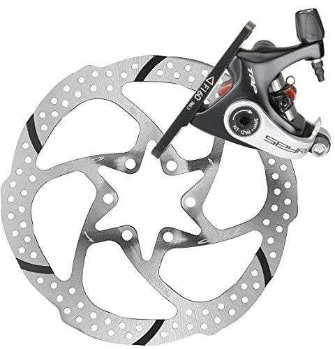 TRP SPYRE Flat Mount Road Alloy Mechancial Disc Brake Caliper Rotor Front 160mm