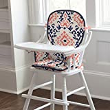 Carousel Designs Navy and Coral Ikat High Chair Pad