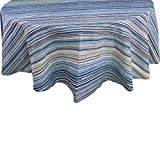 R.LANG Waterproof Tablecloth Tablecloth Oval 60 x 84-inch Spill Proof Printing Tablecloth Blue/Green
