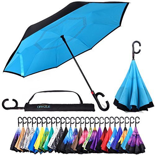 Elephant Golf - Reverse Inverted Inside Out Umbrella - Upside Down UV Sun Protection Windproof Brella That Open Better Than Most Umbrellas, Reversible Folding Double Layer, Suitable for Golf, Car, Women and Men