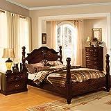 247SHOPATHOME IDF-7571EK-6PC Bedroom-Furniture-Sets, King, Walnut
