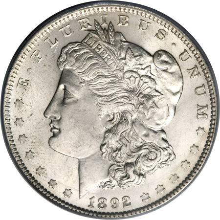 (1892 P Morgan Dollar $1 About Uncirculated)