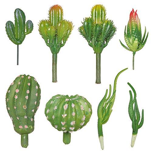ShoppeWatch Artificial Mini Cactus Plants Fake Succulent Picks 8 Pieces Unpotted Indoor Home Décor Faux Cacti Stems DIY Decorations Plantas Artificiales Decorativas