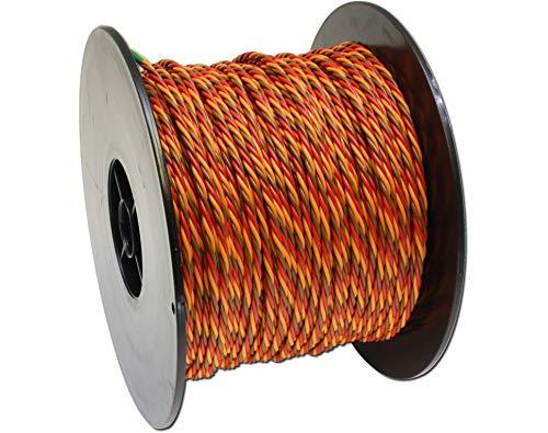 Donau Elektronik 350G PVC Wire 3-Way 100m 0,5qmm for Graupner, Multi-Colour, 100 m