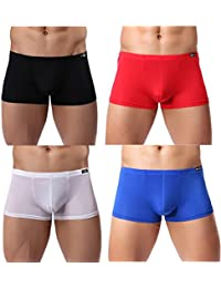 Men's Silk Boxer Briefs Short Leg Underwear Pack Health To Wear