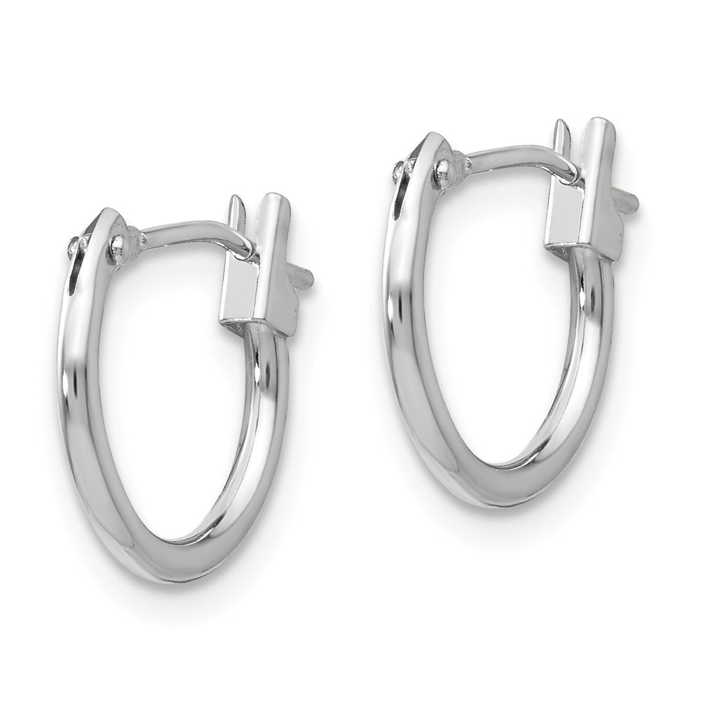 14K White Gold Madi K Childrens 21 MM Hoop Earrings