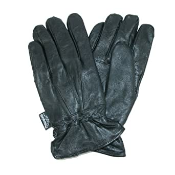 Dorfman Pacific Mens Leather Thinsulate Lined Water Repellent Winter Gloves Small/Medium