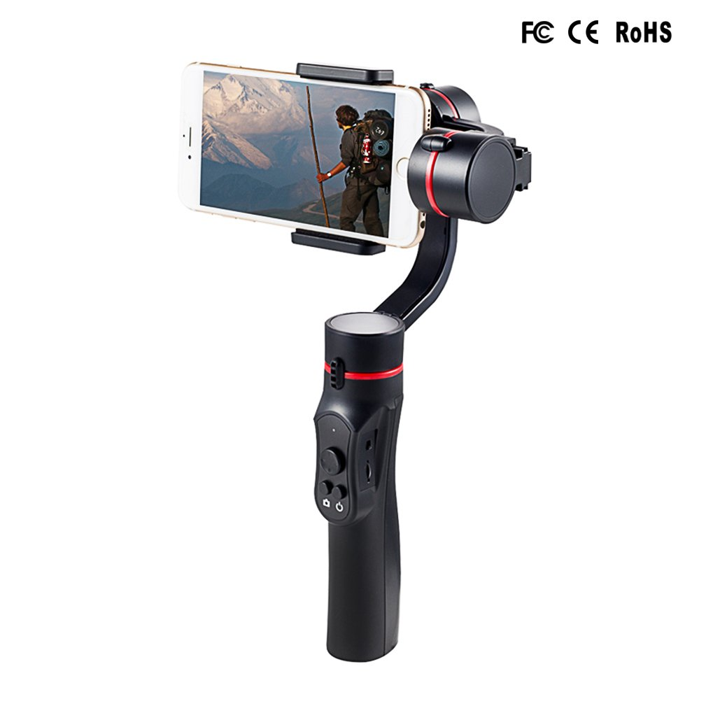 Signstek 3 Axis Gimbal Handheld Stabilizer for Smartphone (Including iPhone and Android) 4 to 5.5 Inch with APP Control and Face Tracking