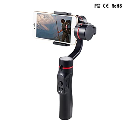 Signstek 3 Axis Gimbal Handheld Stabilizer for Smartphone (Including iPhone  and Android) 4 to 5 5 Inch with APP Control and Face Tracking