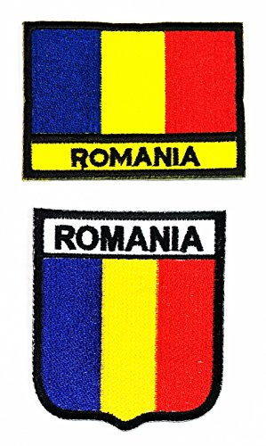 Costume National Romania (HHO SET ROMANIA Flag Patch National flag Patch Embroidered DIY Patch Applique Sew Iron on for everyone Craft Patch for Bags Jackets Jeans Clothes Patch Jacket T-shirt Sew Iron on Costume)