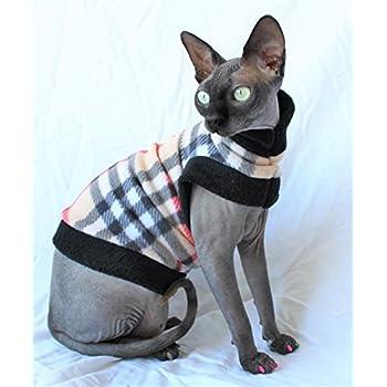 Amazon.com : Sphynx Designer Fleece Knit Cat Shirt