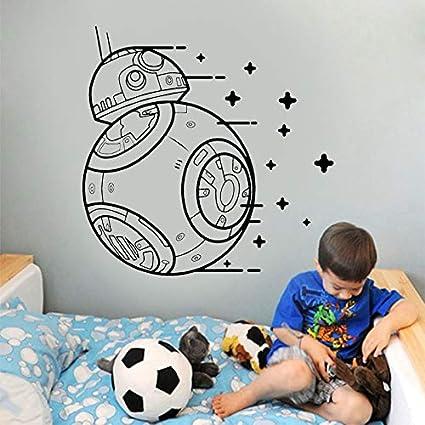 YuanMinglu Planet Wake up Vinilo Apliques de Pared Vinilo Adhesivo Molde niño Cool to Boy 63x63CM