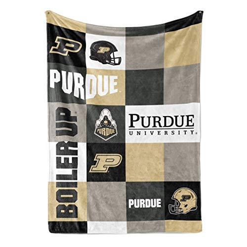 Venley NCAA Purdue Boilermakers Fleece Blanket, 30