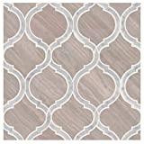 White Quarry Savona 10.89 in. x 12.80 in x 10 mm Honed Marble Mesh-Mounted Mosaic Tile