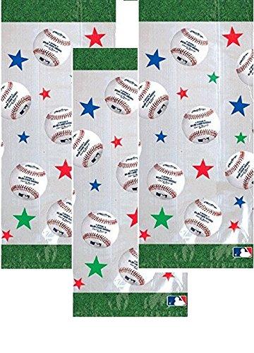 - 60 Baseball Dream Rawlings Cello Loot Bags Favor, Plastic, 11