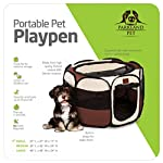 Parkland Pet Portable Foldable Playpen Exercise Kennel Dogs Cats Indoor/Outdoor Removable Mesh Shade Cover 5