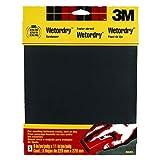 3M Wetordry Sandpaper, 9-Inch by 11-Inch, Super Fine 400 Grit, 5-Sheet
