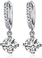 Karatcart Platinum Plated Crystal Clip-On Earrings For Girls