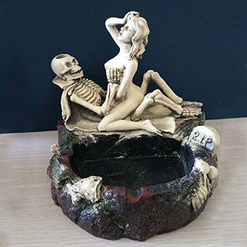 Halloween Bar Desktop Decor Sexy Lady Skull Ashtray