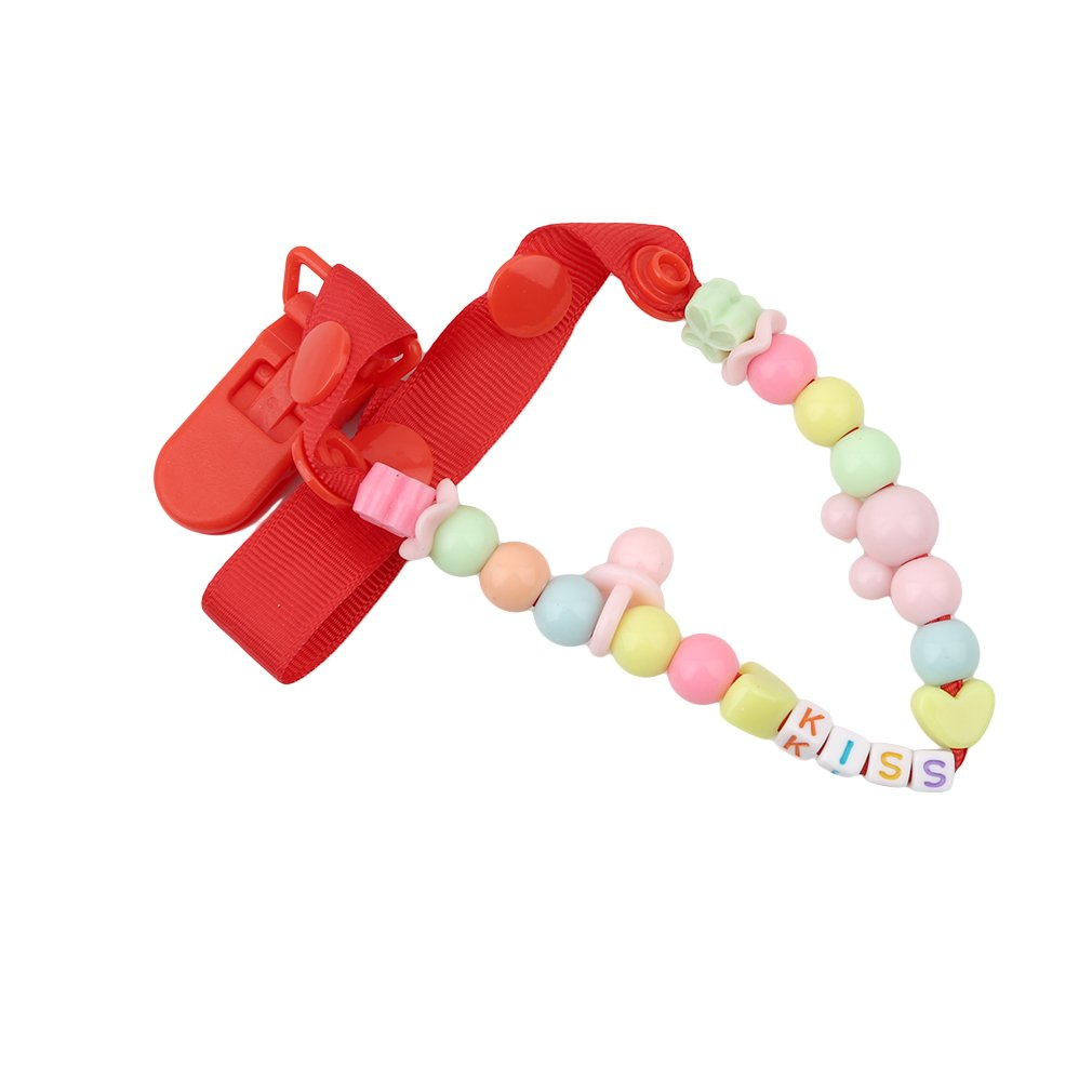 Lalang Baby Teething Pacifier Clip Baby Pacifier Chain Acrylic Dummy Chain (pink) 88-store