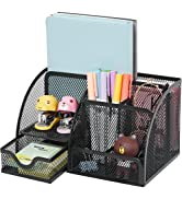 Coavas Desk Organizer Desktop Office Supplies Organizer With 6 Compartments , Space Saving Mesh D...