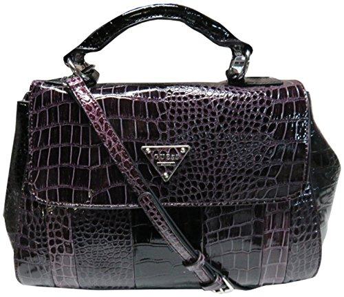 Guess Women's Purse Handbag Bay View Satchel Plum Multi