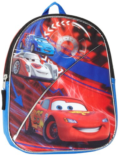 (Fast Forward Little Boys' Cars Mini Backpack, Red, One Size)