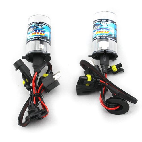 Car HID Xenon Single Beam Lights Bulbs Lamps LH4 6000K Diamond White (12V,35W) - 1 Pair