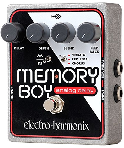 electro-harmonix Memory Boy Memory Boy Pedal color plateado Pedal de efecto eco//delay//reverb para guitarra