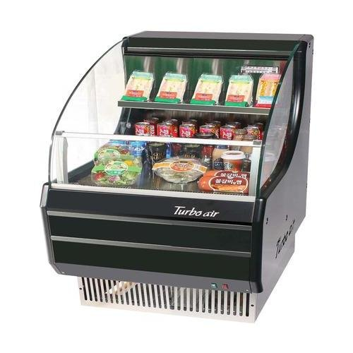 Turbo Air TOM30LBSP 28 Low Profile Display Merchandiser with Environmental Friendly Refrigeration System Solid Side Panel Standard Back-Guard and Anti-Rust Coating: Black