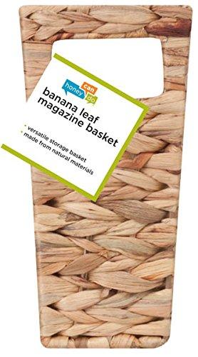 HoneyCanDo STO02883 Magazine Water Hyacinth Basket 155 L x 53 W x 10 H in